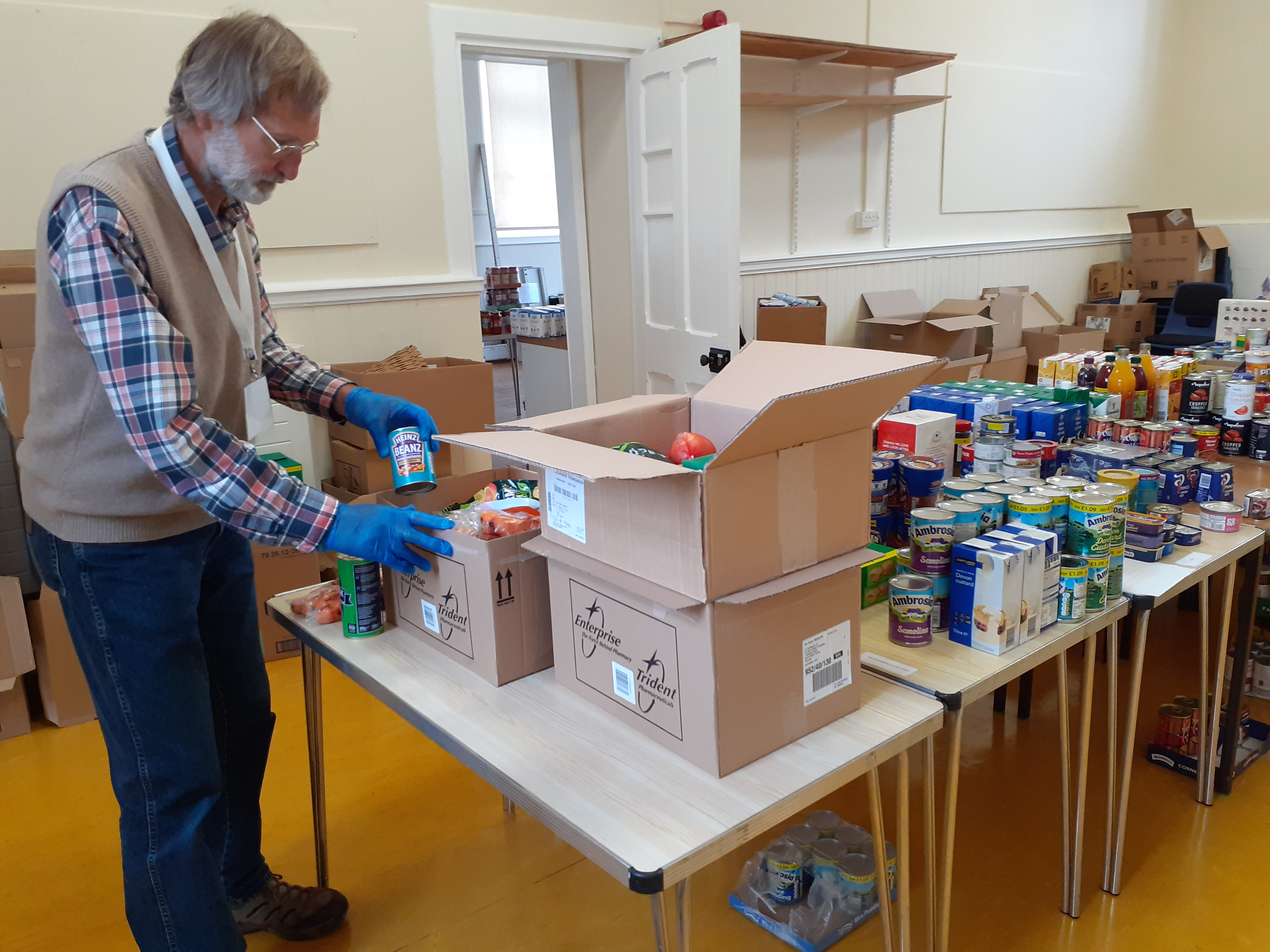 Volunteering at South Brent's ood bank